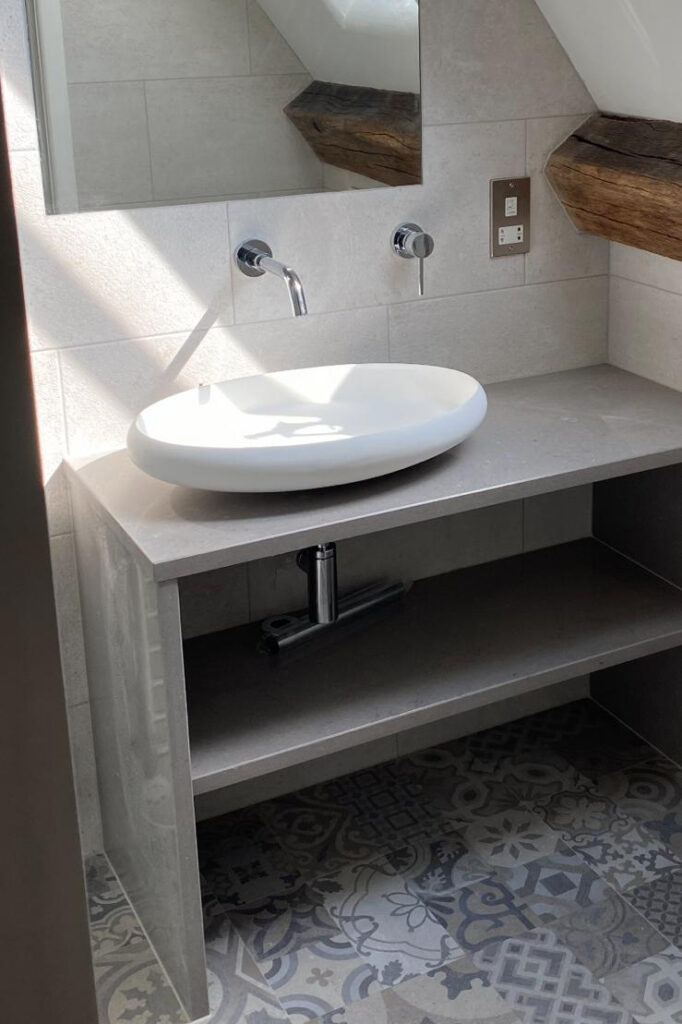 bathroom fitting sink installation